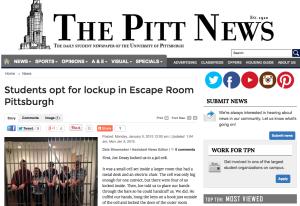 Escape Room PGH Pitt News