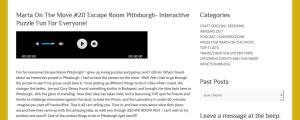 Marta on the move - Escape Room Pittsburgh