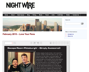 Nightwire Magazine - Escape Room Pittsburgh