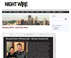 Nightwire Magazine - Escape Room Pittsburgh