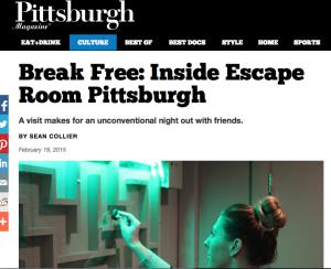 Pittsburgh Magazine - Escape Room Pittsburgh